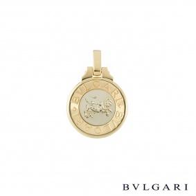 Bvlgari White and Yellow Gold Taurus Zodiac Pendant